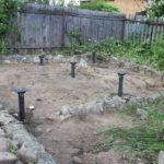 свайный фундамент для постройки бани