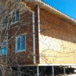 Дом из бруса на винтовых сваях