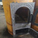 Сварная печь отопления
