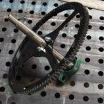 зубчатое колесо с выточеной осью