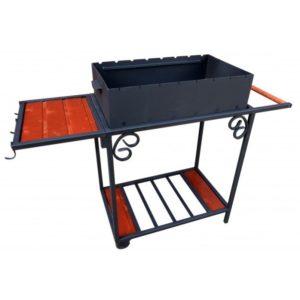 разборный мангал для дачи с боковым столиком