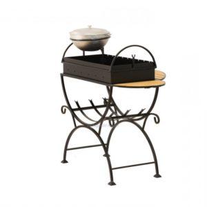 мангал с подставкой для казана и столиками