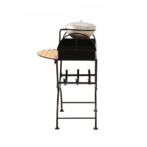 мангал с дровницей и боковым столиком