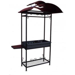 мангал с крышей и боковым столиком