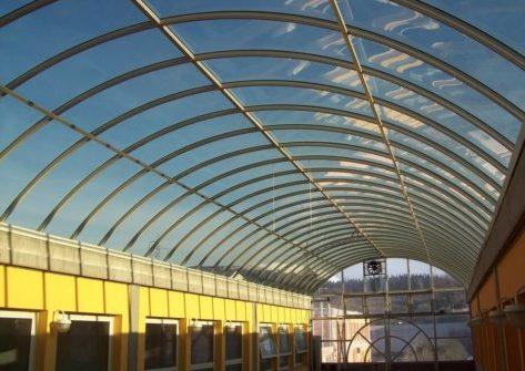 Арочный монолитный навес-крыша