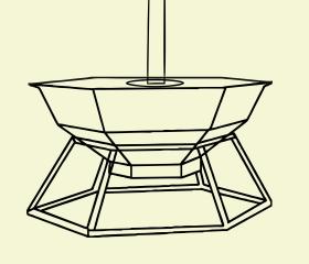 конструкция банного чана с подставкой и дымоходом