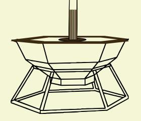 конструкция банного чана с деревянной отделкой и дымоходом