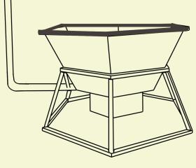 конструкция банного чана с печкой, трубой и деревянной отделкой