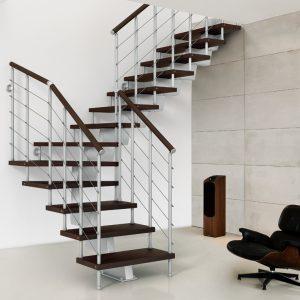 ЛМГО-100. Современная лестница из металла и дерева