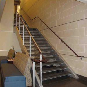 ЛМП-35. Лестница металлическая прямая с промежуточной площадкой
