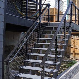 ЛМП-45. Уличная лестницы для подъёма на крыльцо